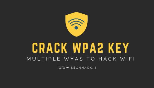 Multiple Ways to Crack Wifi Password