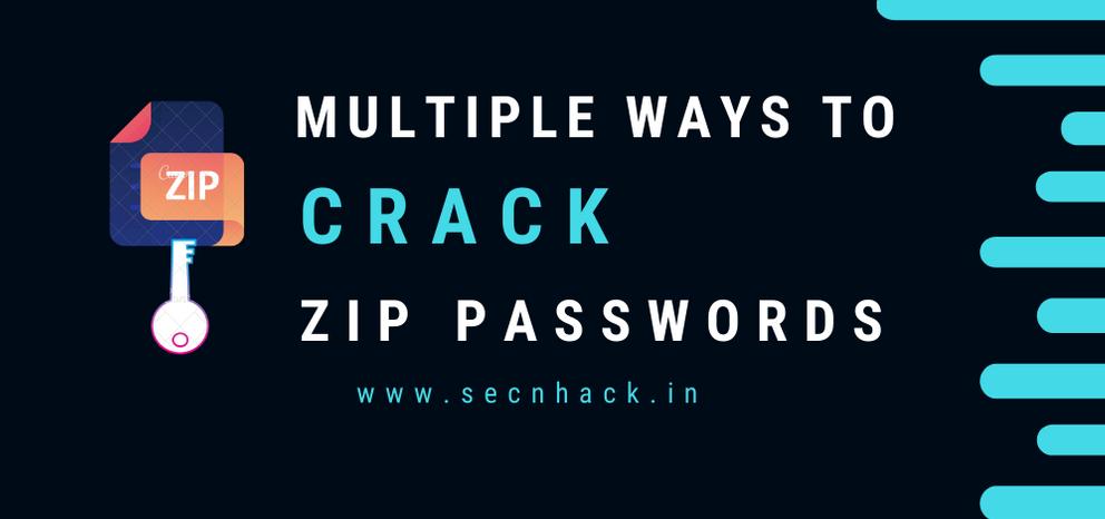 Multiple Ways to Crack ZIP File Passwords