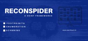 ReconSpider – A  Intelligence OSINT Framework
