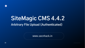 SiteMagic CMS 4.4.2 Exploit – Arbitrary File Upload (Authenticated)