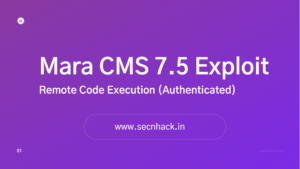 Mara CMS 7.5 Exploit – Remote Code Execution (Authenticated)