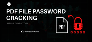 How to Crack PDF File Password using Zydra Tool