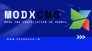 MODX CMS Installation on Ubuntu