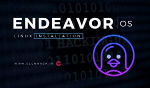 EndeavorOS Installation : Windows