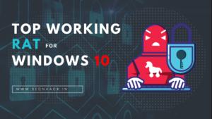 Top Working RAT for Windows 10