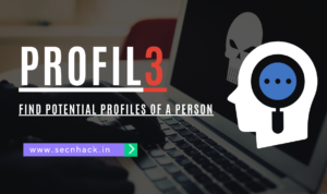 Profil3 –  Find Potential Profiles of a Person